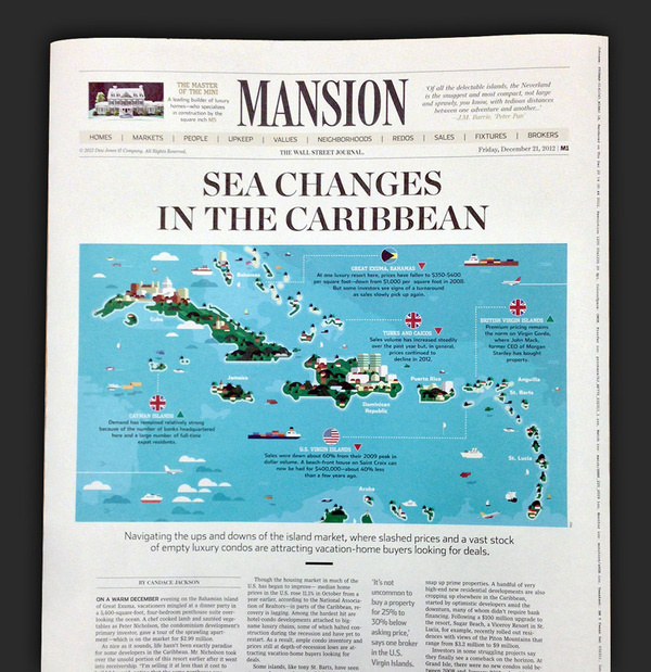 """Sea Changes in the Caribbean"" illustration #infographic #newspaper #map #illustration #editorial"