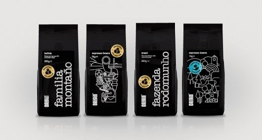 Origin Coffee | Packaging Design | A-Side #illustration #side