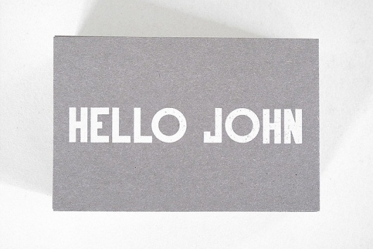 Flickr: Sua galeria #card #hello #typography
