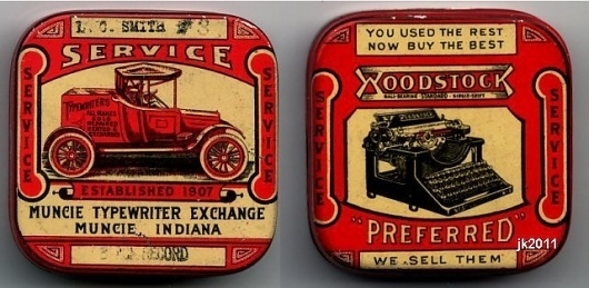 All sizes | Muncie Typewriter Ribbon tin | Flickr - Photo Sharing! #packaging #vintage