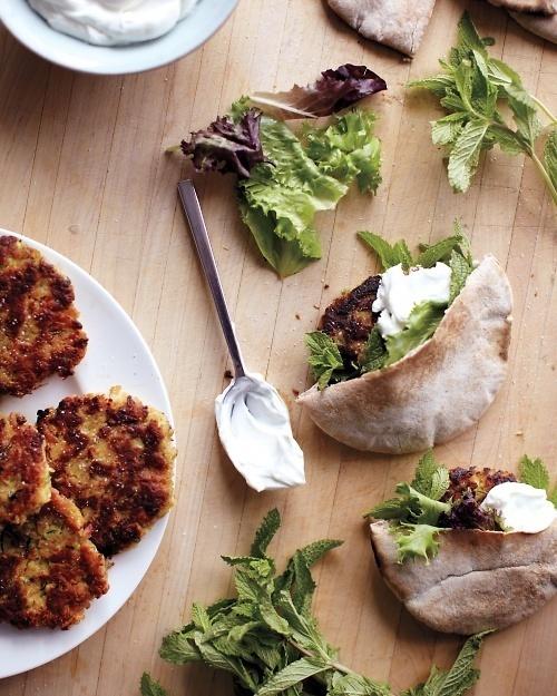 Zucchini Patty Sandwiches | Whole Living #food