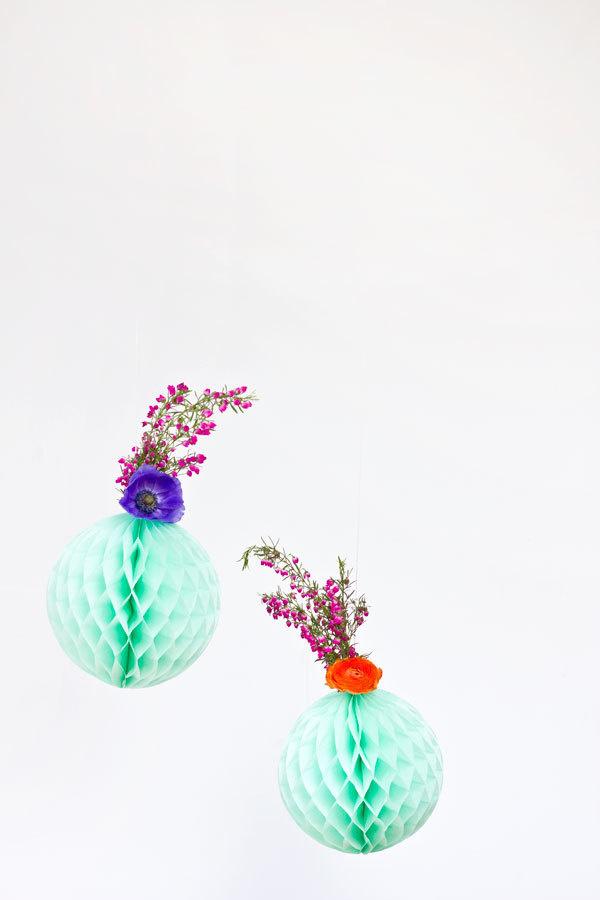 DIY Fresh Flower Honeycomb Decor #shop #paper #window #flower #colour