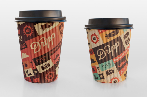 Dripp Hot Coffee Cups #packaging #cup #coffee