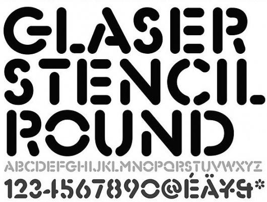 JohnMoore-GlaserStencilRound.jpg 588×447 pixel #moore #round #stencil #john #type #glaser #typography