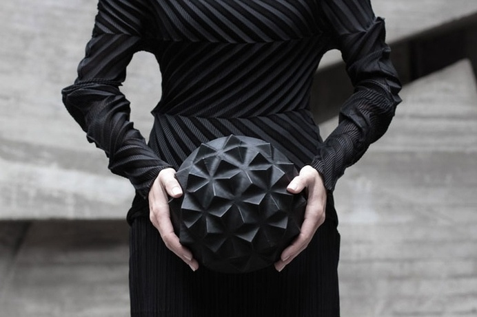 Leather Accessories by Konstantin Kofta #futuristic #black #leather #facet #pouch