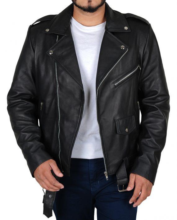 Fallout 4 Atom Cats Biker Black Leather Jacket
