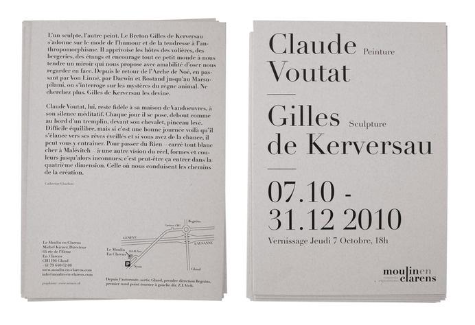 Neo Neo Graphic Design Switzerland - Moulin En Clarens #print #handout #flyer