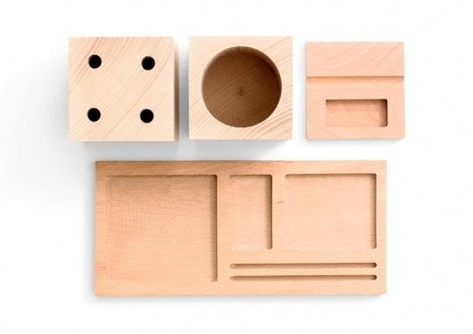 Kukka Blocks Desk Set (Desk, Workspace) | Accessories | Vetted #block #wood #desk #set