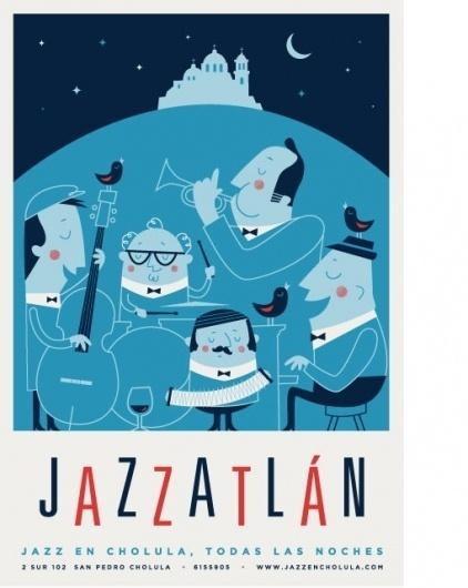design work life » cataloging inspiration daily #jazz #illustration #moon