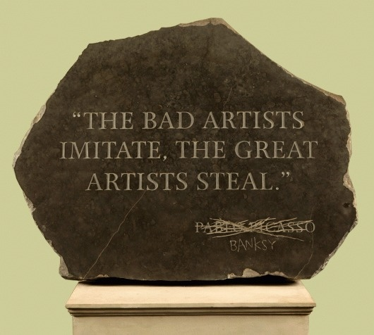Banksy - Inside #banksy #stone #art #humor