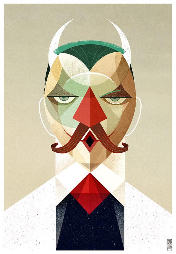 Face Studies   Konstriktor xe2x80xa2 Helder Oliveira xe2x80xa2 Illustration