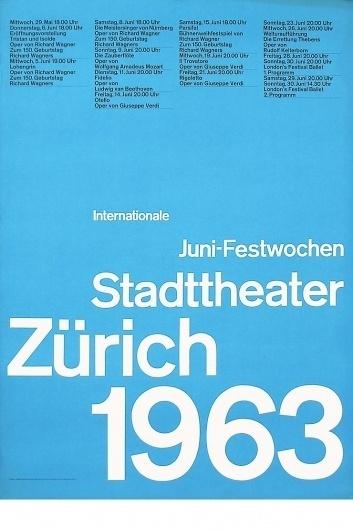 Josef Müller-Brockmann JUNI-FESTWOCHEN 1963 [ 128CM X 90CM ] via www.blanka.co.uk