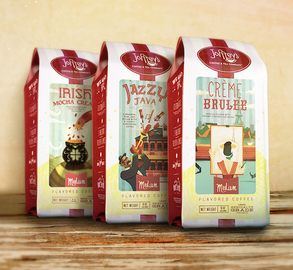 Packaging – Coffee Illustration Labels