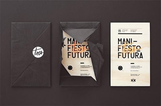 Manifiesto Futura Invitation - FPO: For Print Only #silkscreen #invitation #print #design #graphic #identity