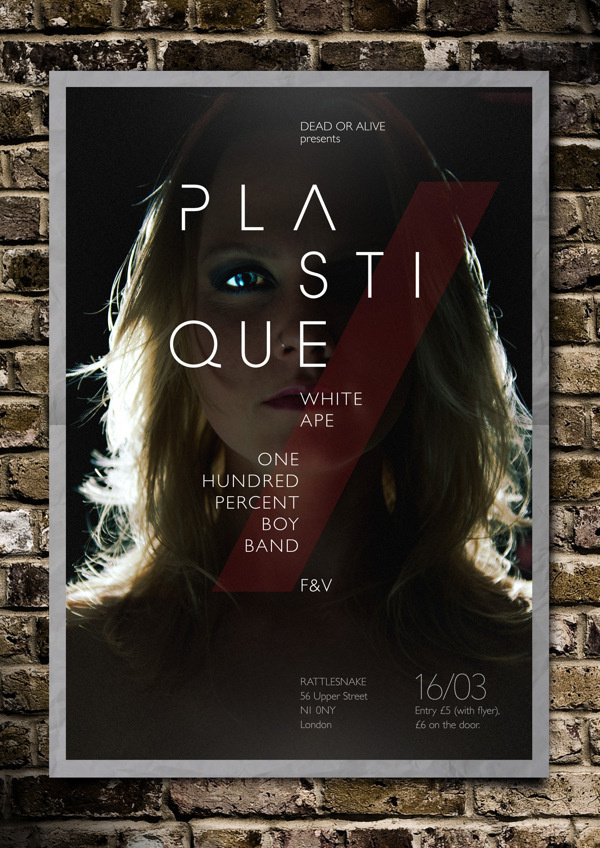 Plastique – Live Show Poster on Behance #posterdesign #rock #print #graphicdesign #photoshop #music #typography