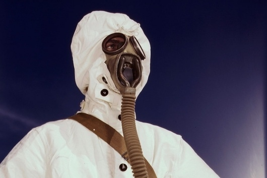 World War II: The American Home Front in Color - Alan Taylor - In Focus - The Atlantic #chemical #wwii #mask #gas