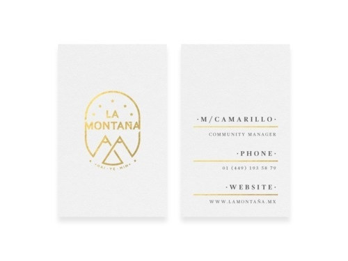 La Montaña #lamontaa #business #branding #print #brand #bytomas #cards