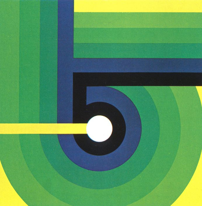 Vintage vinyl or poster by Otto Rieger, 1978.