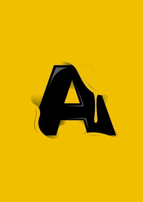 Letter A | Design & Graphic – pt. 1 #illustration #lettering #typography