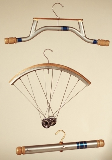 Getting the Hang of Upcycling - Core77 #cycle #hanger