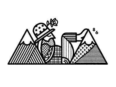 Mountain Man by Chris DeLorenzo #illustration #illu #graphic #design #lineart #charcter
