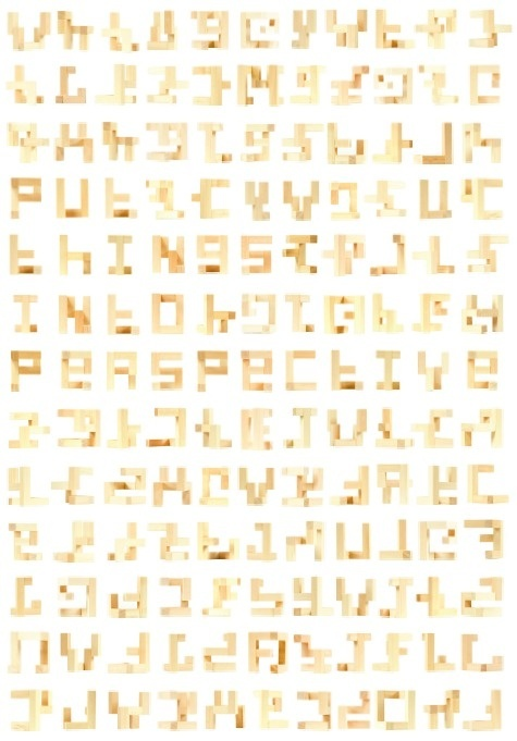 Portfolio of Linna Xu: currently available for freelance #perspective #fracture #design #wood #typeface #type #typography