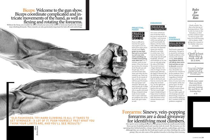 CLIMBING MAGAZINE - Bryan Nanista #training #layout #editorial #gym