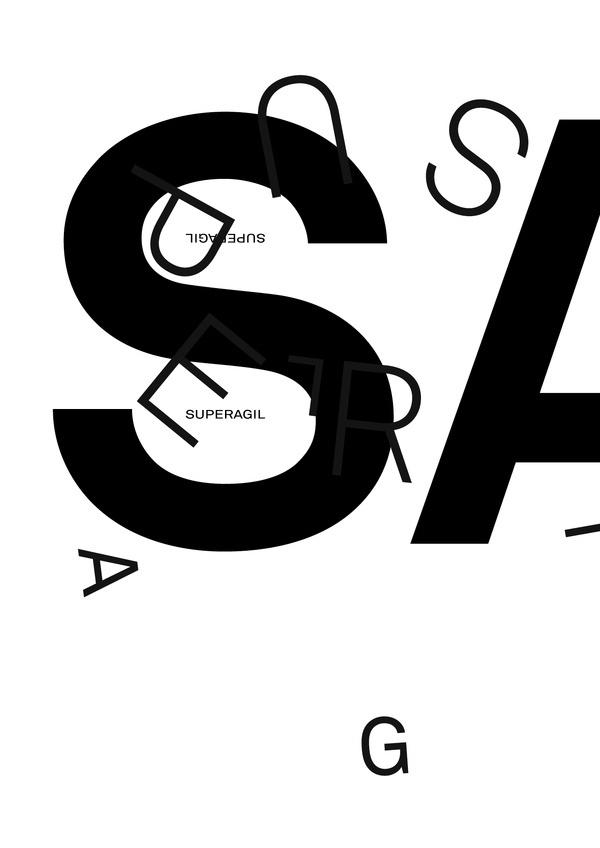SUPERAGIL #design #graphic #typography