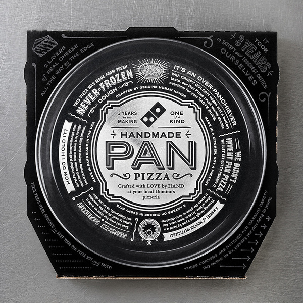 Domino's Pan Pizza #food #dominos #pizza #layout #typography