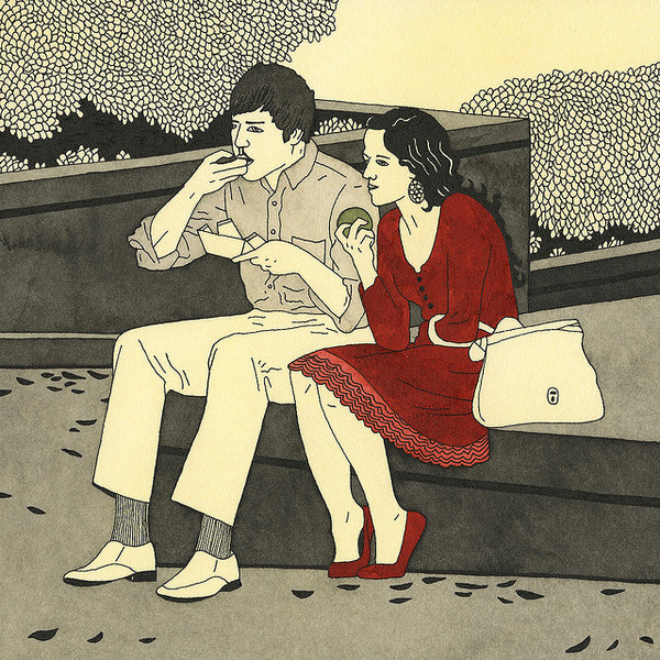 Ian Dingman - The Thinkers #ian #couple #dingman #the #thinkers #illustration #drawn #hand