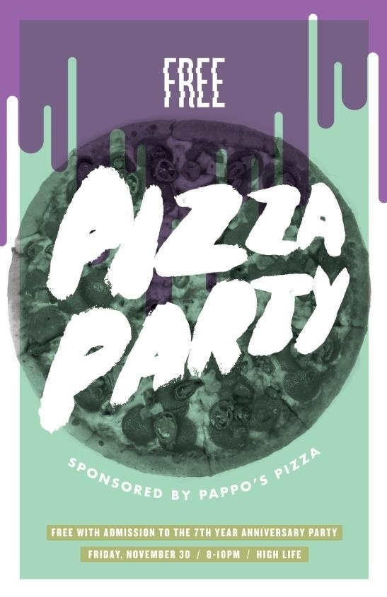 Report Comment #design #flier #food #paint #illustration #drawn #poster #pizza #brush #type #hand #party