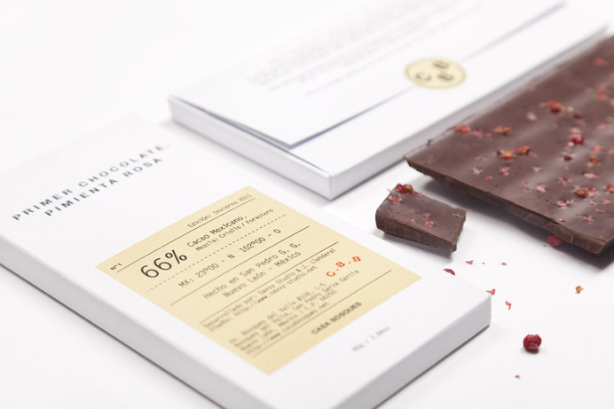 Packaging with emboss and sticker details designed by Savvy for Casa Bosques' new line of seasonal chocolates #packaging