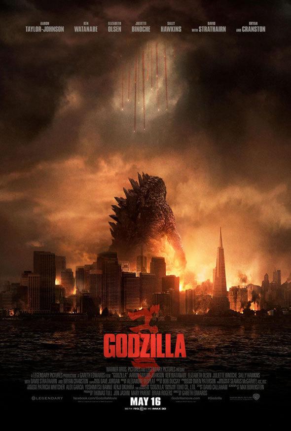 "New Poster: ""Godzilla"" | News | Dark Horizons #warner #bros #destruction #poster #film #monster #kaiju #godzilla"