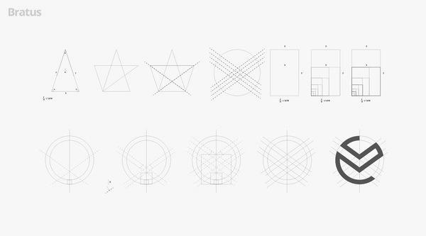 Golden ratio #logotype #logos #gird #ratio #construction #process #icons #symbol #golden #logo