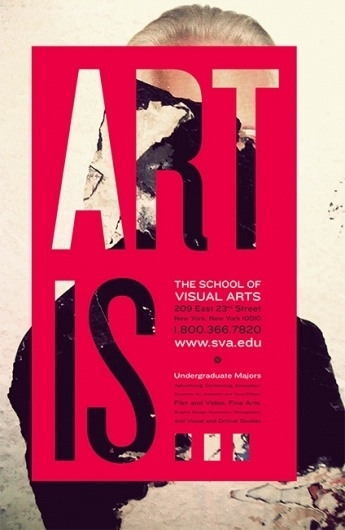 RACHEL MATTS #visual #red #school #typography #city #of #is #subway #arts #poster #art #york #new