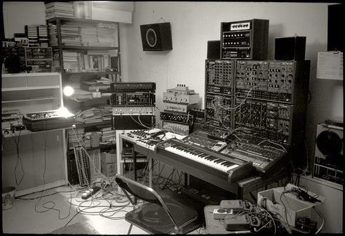 My studio - 1981 | Flickr - Photo Sharing! #chris #keyboard #cosey #synthesizer #wave #industrial #studio #carter #music #new
