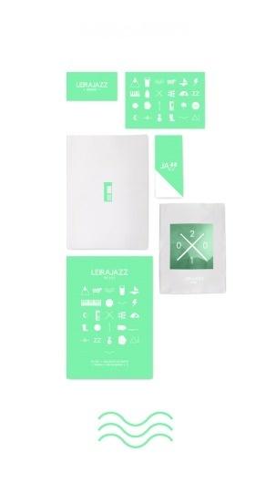 Leirajazz : Minusminus #print #design #identity #green