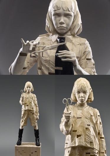 gehard-demetz_2.jpg (826×1172) #sculpture #wooden #child #scissors #gehard #wood #demetz #tie