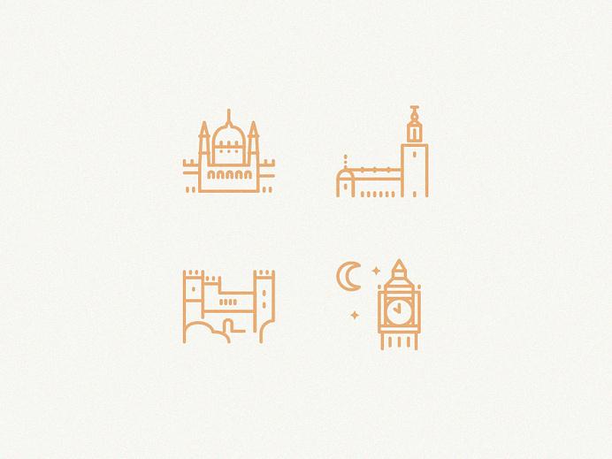 Tourist attractions #line #icon #sign #city #picto #symbol