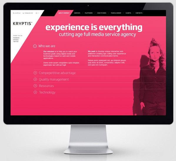 Kryptis web design concept by Paulius Papreckis #interactive #ux #design #& #ui #digital