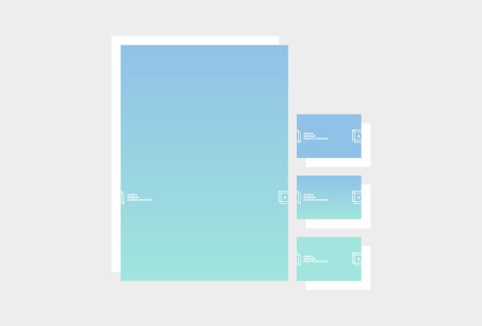 Andrea Sopranzi by Andrea Sopranzi #graphic design #stationary #print #gradient