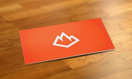 Bright Orange Business Card #identity