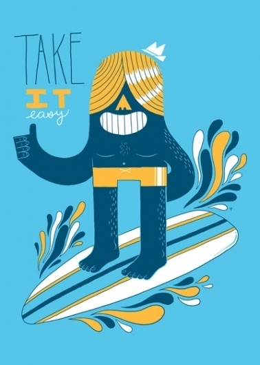 Easy Like Summer Morning Art Print by Zack Forer | Society6 #surfing #illustration
