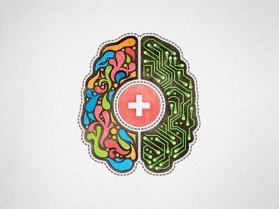 Graphic design inspiration blog #illustration #brain