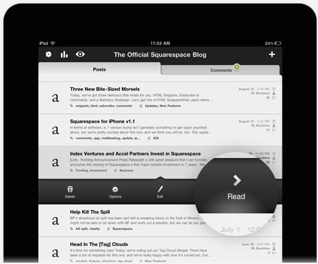 iPad - Squarespace #ipad #design #interface #ui #app