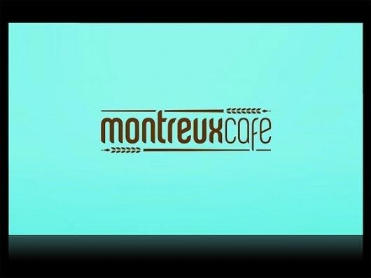 Montreux Café Identity System - FPO: For Print Only #business #branding #card #food #restaurant #foil