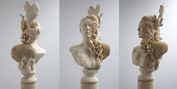 CJWHO ™ (Hand Carved Wood Sculptures by Morgan Herrin ...) #sculpture #herrin #crafts #design #wood #portrait #art #morgan