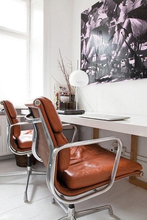 Our Dream Setup: 2x Eames Chairs & 1 Continuous Desk #office #desk #home #workspace