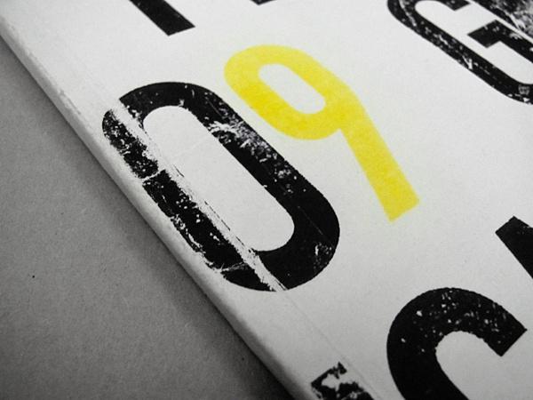 Graphic Production on Behance #nine #photocopy #zero #craft #handmade #number