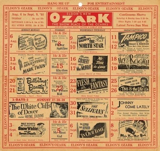 All sizes   Ozark Theatre Schedule Eldon, MO   Flickr - Photo Sharing! #cinema #poster